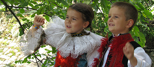 ... Barunka Křiváková a Lukášek Slaník … 17.8.2008... foto: Šána III.
