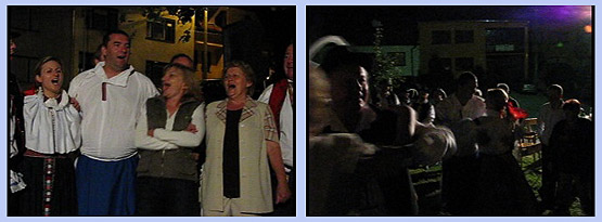 ... srdečná atmosféra straňáckéj noci … 23.8.2008... foto: Gabriela Krchňáčková