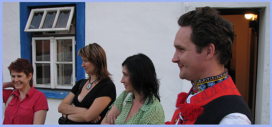... Radek a Vítek s Vlastú Grycovú  … 22.8.2008... foto: Šána III.